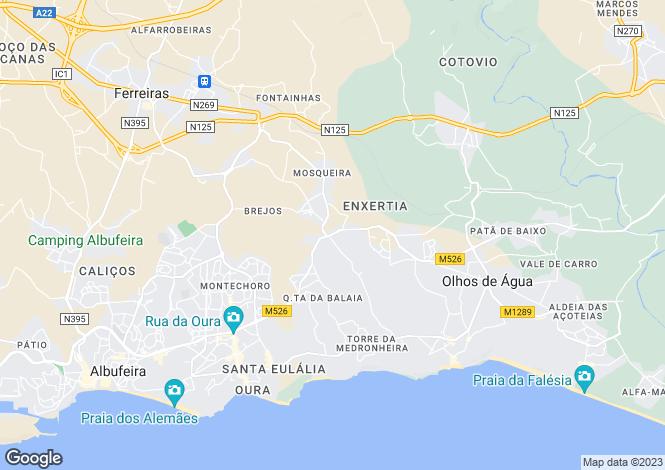 Map for Algarve, Vale Navio