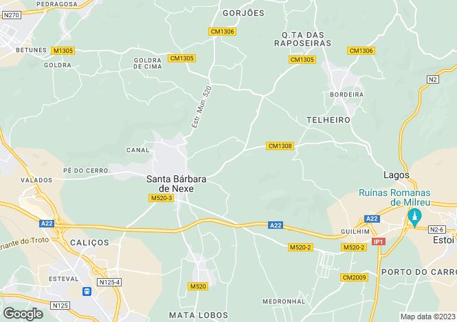 Map for Algarve, Santa Bárbara de Nexe