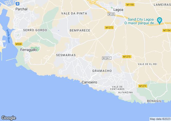Map for Carvoeiro, Algarve