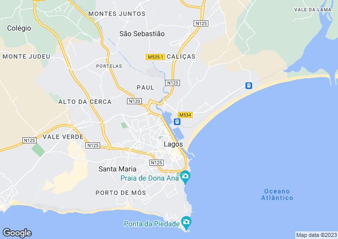Map for Algarve, Lagos