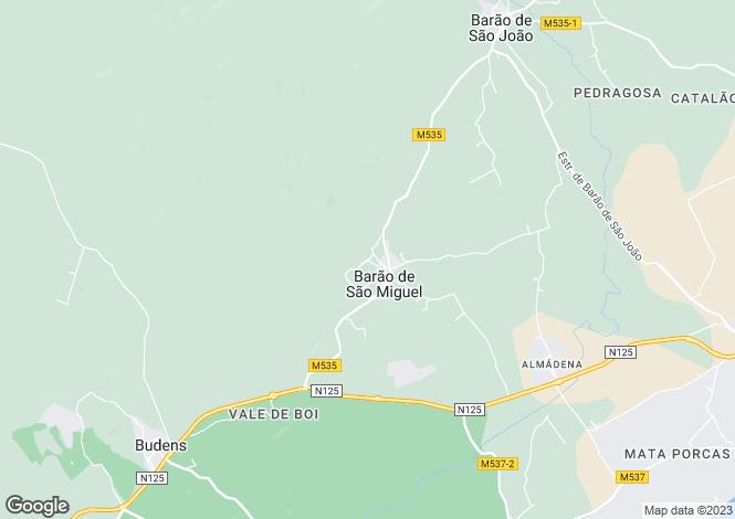 Map for Algarve, Barão de São Miguel