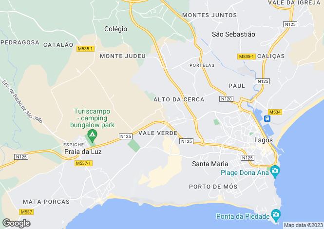 Map for Home In Prestigious Area, Monte Piscarreta, Lagos