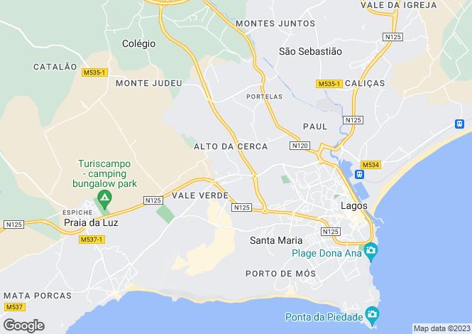 Map for Prime Location Property, Funchal Ridge, Algarve