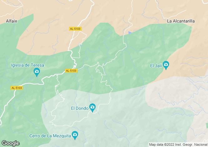 Map for Andalusia, Almería, Sierra Cabrera