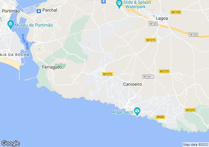 Map for 4 bedroom villa with 6 bedroom annex and Ocean views, large plot close to Carvoeiro, Portugal