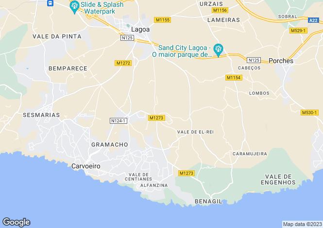 Map for CarvoeIro, Algarve Central, V4, Portugal