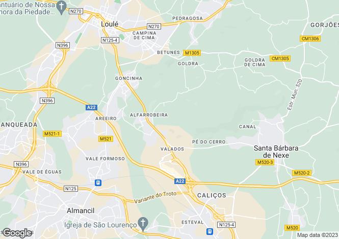 Map for Portugal,Algarve,Albufeira