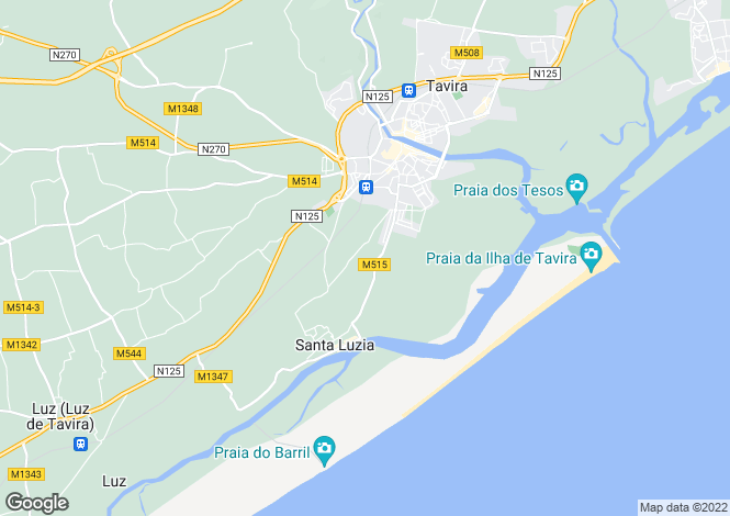 Map for Santa Luzia, Faro, Portugal