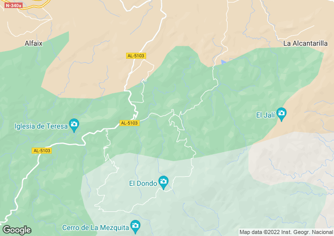 Map for Sierra Cabrera, Almería, Andalusia