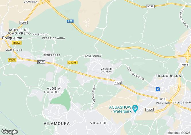 Map for Algarve, Boliqueime
