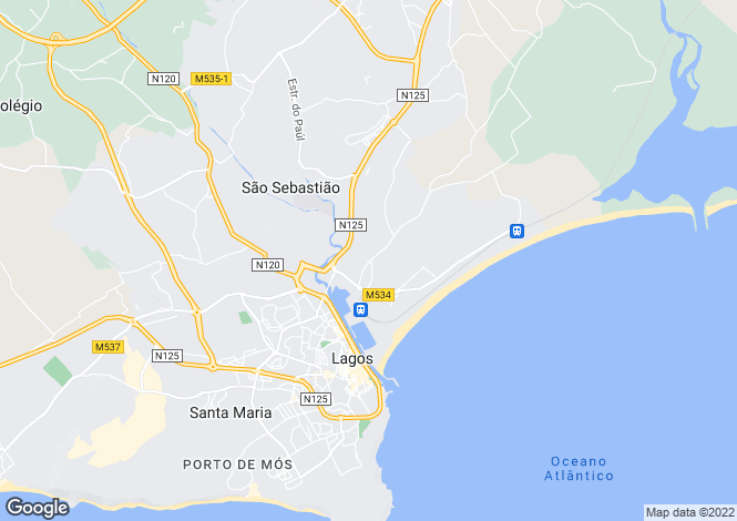 Map for Algarve, Lagos