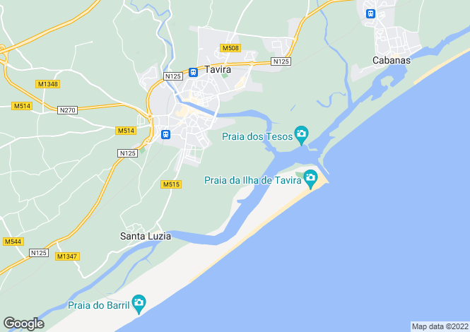 Map for Algarve, Santa Luzia