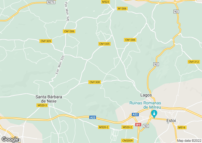 Map for Algarve, Santa B�rbara de Nexe