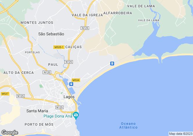 Map for Lagos, Algarve
