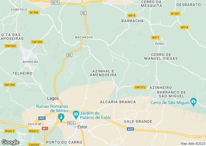 Map for Algarve, Faro