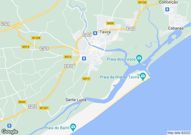 Map for Santa Maria e Santiago, Faro, Portugal
