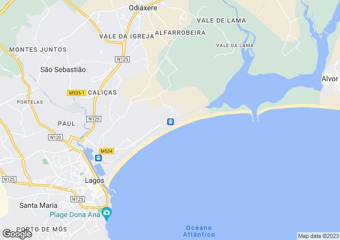 Map for Deluxe Apartment, Meia Praia, Lagos