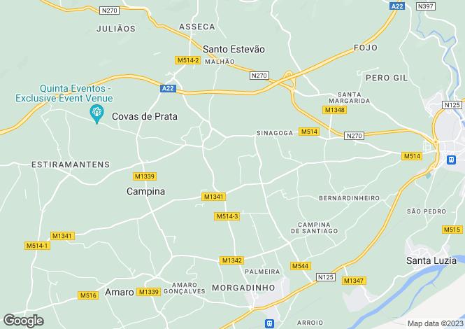 Map for Algarve, Santo Estêvão