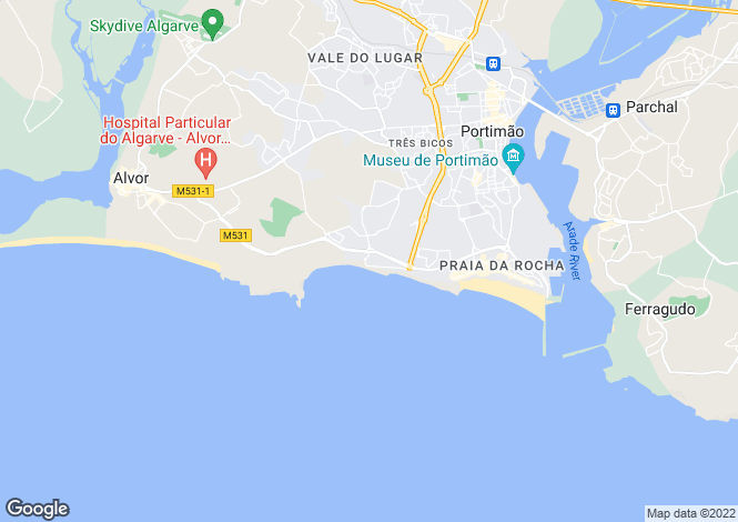 Map for Portimao, Portugal