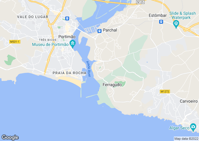 Map for Algarve, Ferragudo