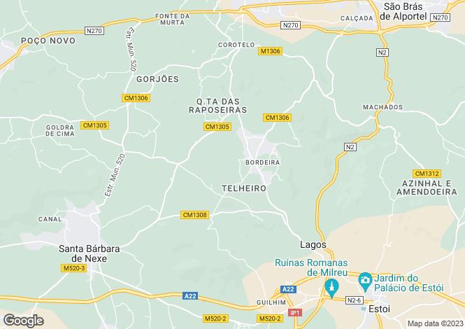 Map for Surrounding/Country, Santa Bárbara de Nexe, Portugal