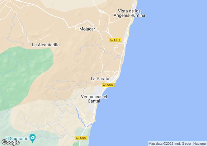 Map for Andalusia, Almería, Mojácar