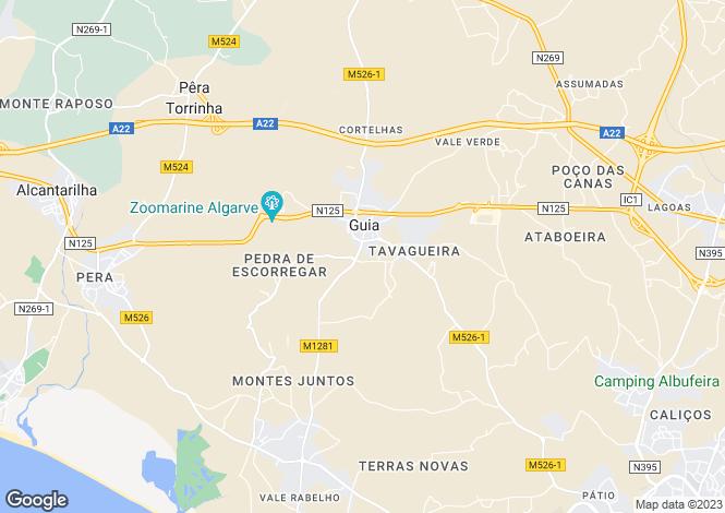 Map for Guia, Algarve, Portugal