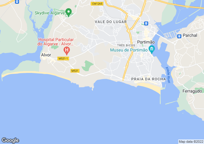 Map for Alvor, Algarve