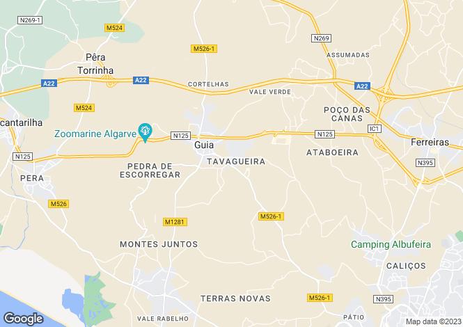 Map for Tavagueira, Algarve, Portugal