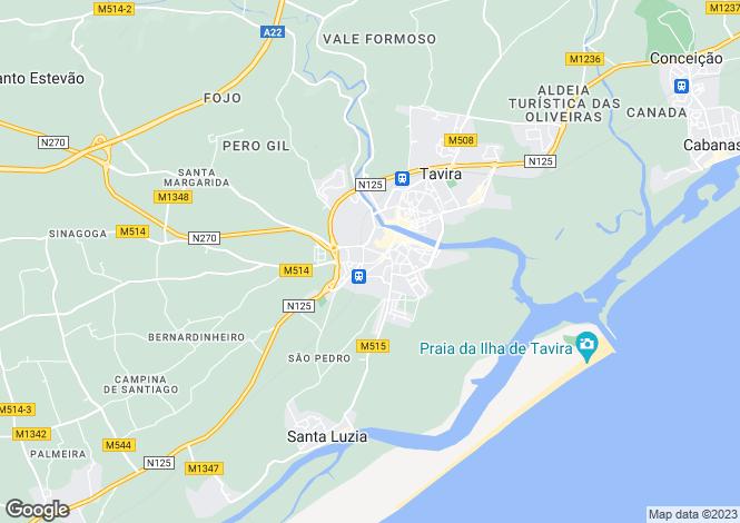 Map for Algarve, Tavira (Santa Maria e Santiago)
