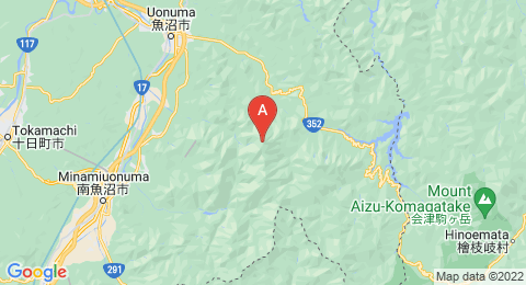 map of Uonuma-Komagatake (Japan)