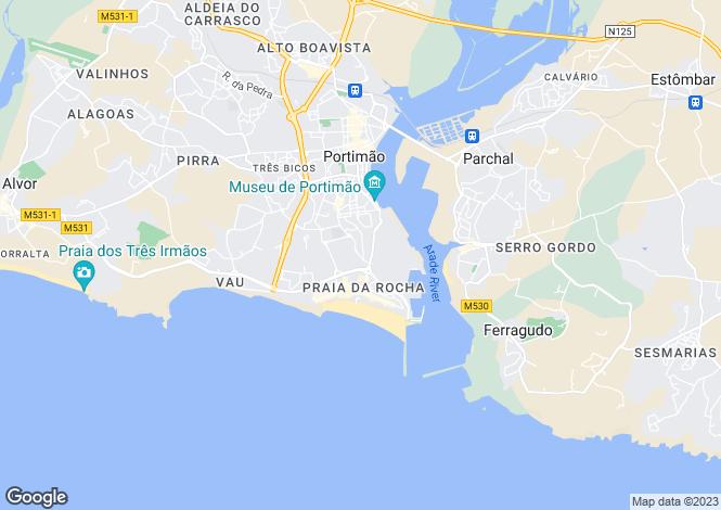 Map for Praia da Rocha, Algarve