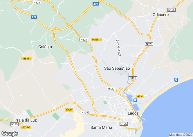 Map for Villa Surrounded By Mature Gardens, Portelas, Algarve
