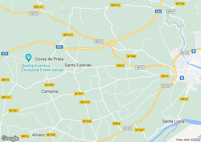 Map for Luz de Tavira e Santo Estevao, Faro, Portugal