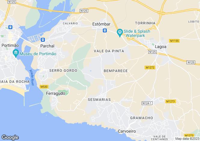Map for Ferragudo, Algarve
