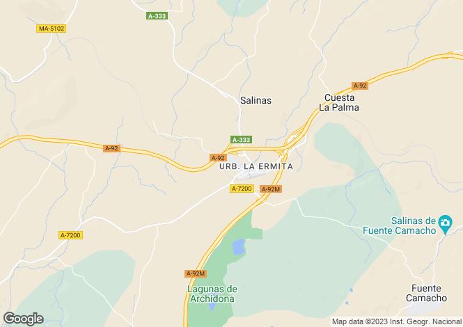 Map for Archidona, Malaga, Andalucia, Spain