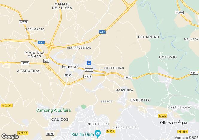 Map for Ferreiras, Algarve