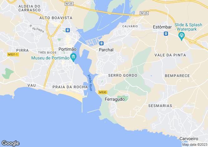 Map for Portugal - Algarve, Lagoa
