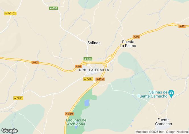 Map for Archidona, Málaga, Andalusia