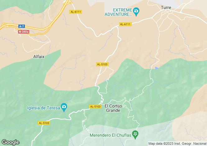 Map for Andalusia, Almería, Cortijo Grande