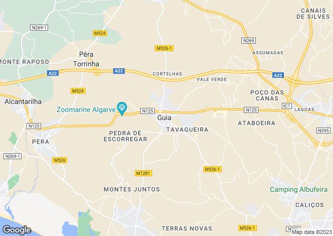 Map for Algarve, Guia