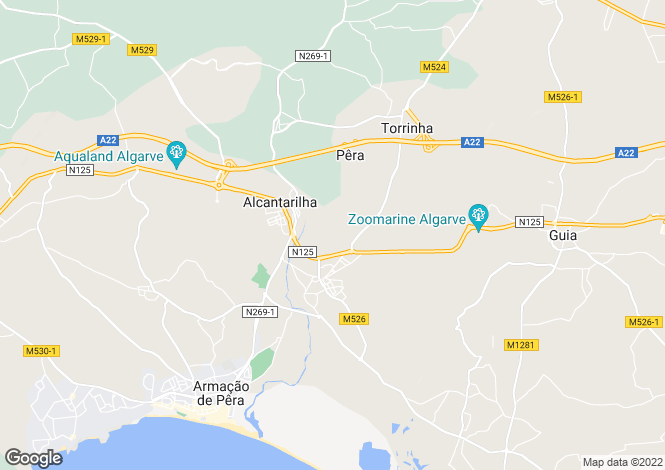 Map for Pera, Algarve, Portugal