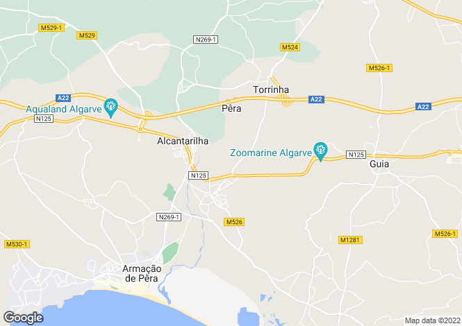 Map for Portugal - Algarve, Silves