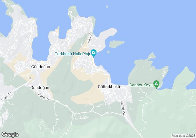 Map for Golturkbuku, Bodrum, Mugla