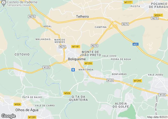 Map for Baixo Alentejo, Odemira