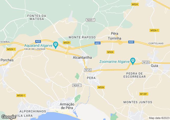 Map for Algarve, Silves