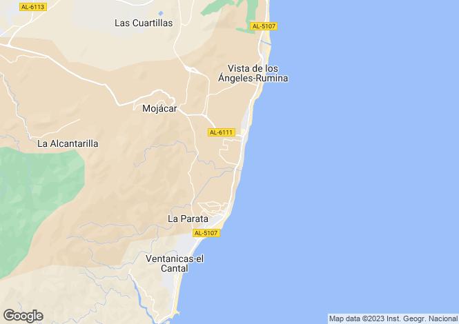 Map for Spain - Andalucia, Almería, Mojácar
