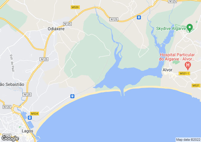 Map for Algarve, Vale Da Lama