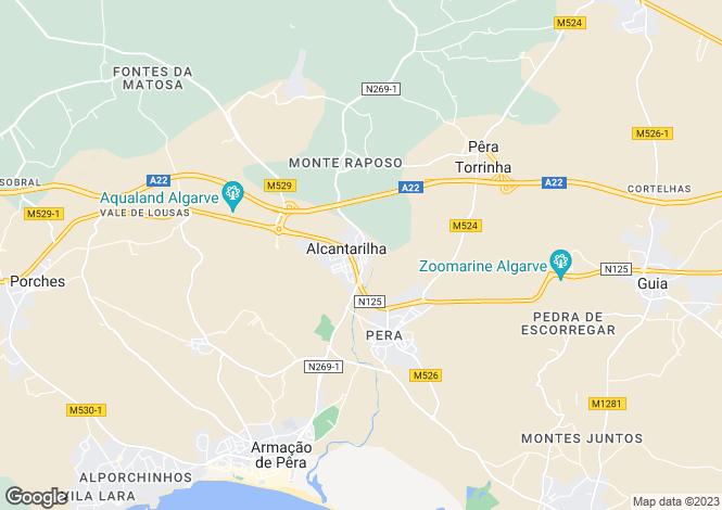 Map for Portugal,Algarve,Alcantarilha