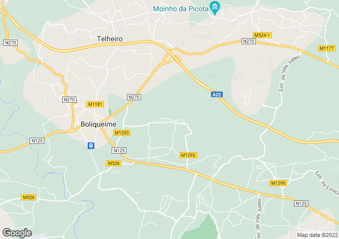 Map for Boliqueime, Algarve